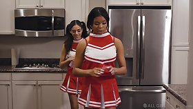 Cute Latina cheerleader just wants to engage in battle pussy all the time