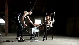 Natalie Hot gets used by her dominatrix in a hot BDSM session