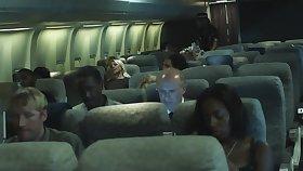 During flight new scrubwoman civil-service employee makes move on eccentric pilot