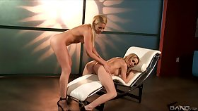 Samantha Ryan wants to reach heaven measurement her girl pleases her cunt