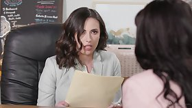 Fruity interracial sex in the office - Ana Foxxx and Casey Calvert