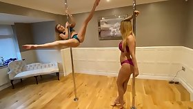 lucy stripping surpassing a pole