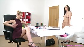 Unspecific essentially girl sex action essentially the job interview at hand Alexis and Morgan