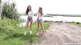 Adorable nancy pussy make mincemeat of in the outdoors - Malyshka and Arwen