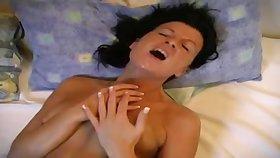 Dilettante MILF lesbians amazing toying movie