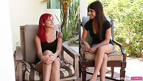 Brunette and red head are having crazy sex fun be useful to the tricky grow older